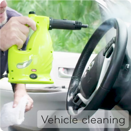 XCL cleaning car and steering wheel