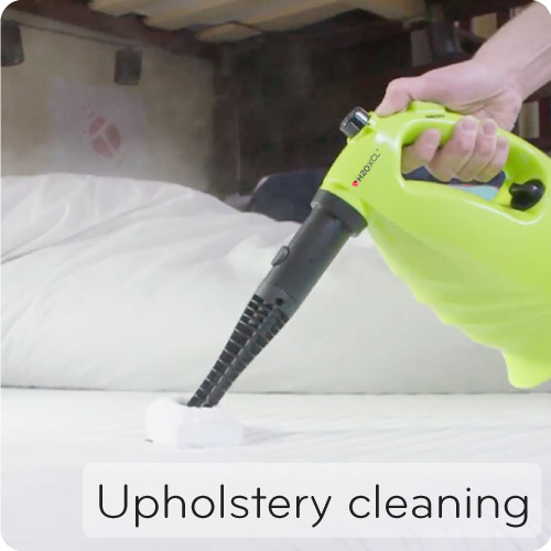 XCL cleaning upholstery and bedding