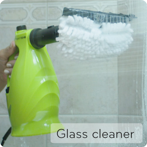 XCL cleaning windows and glass