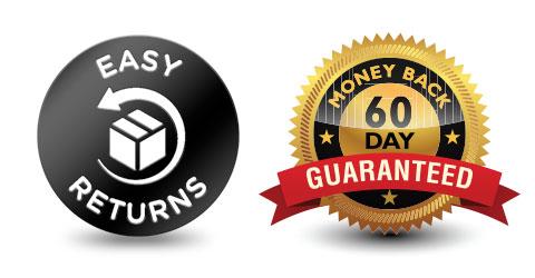 Easy Returns; 30 day money back guarantee; single Blu Tiger