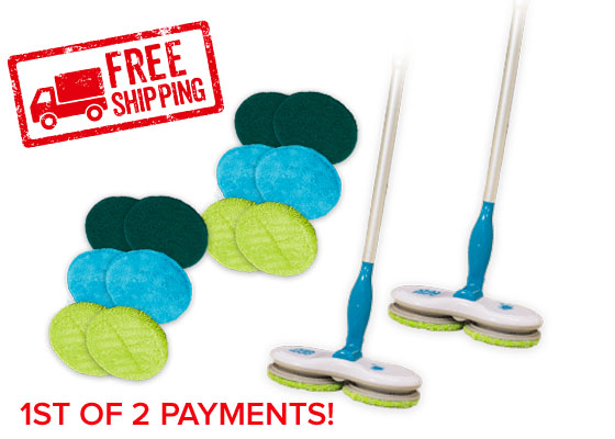 Free shipping stamp; 2 Floor Police, and 4 microfiber pads, 4 scouring pads, 4 polishing pads
