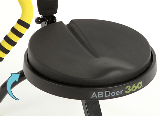 Closeup of the Dynamic Fluidity Seat
