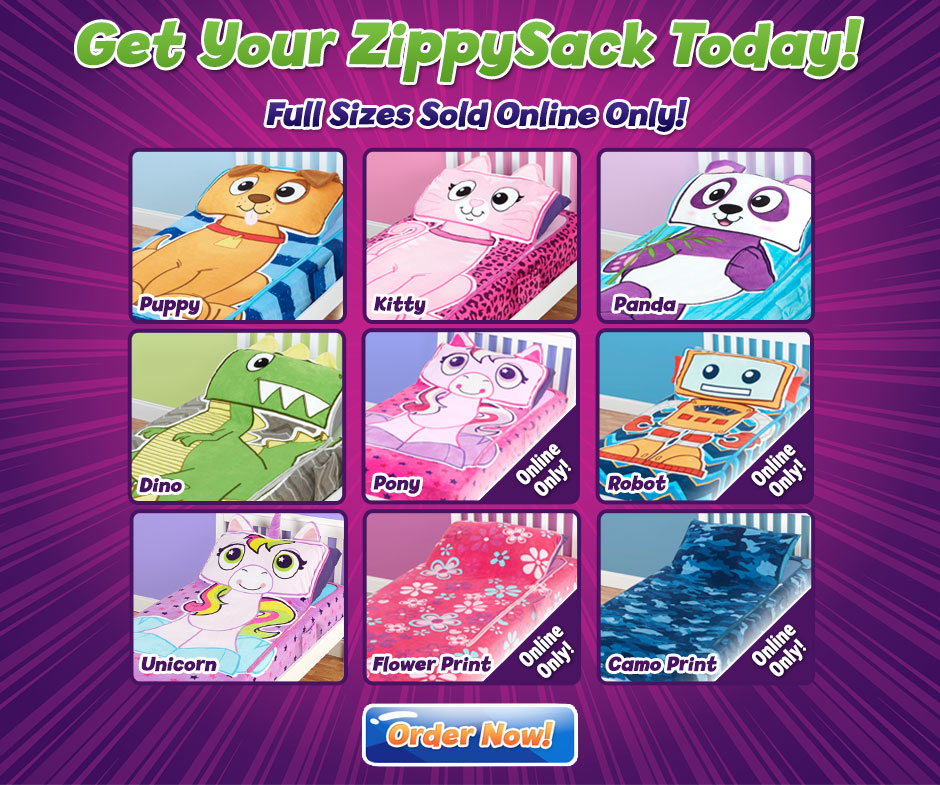 Zippysack Make Your Bed A Cuddly Friend Just Zip And Flip