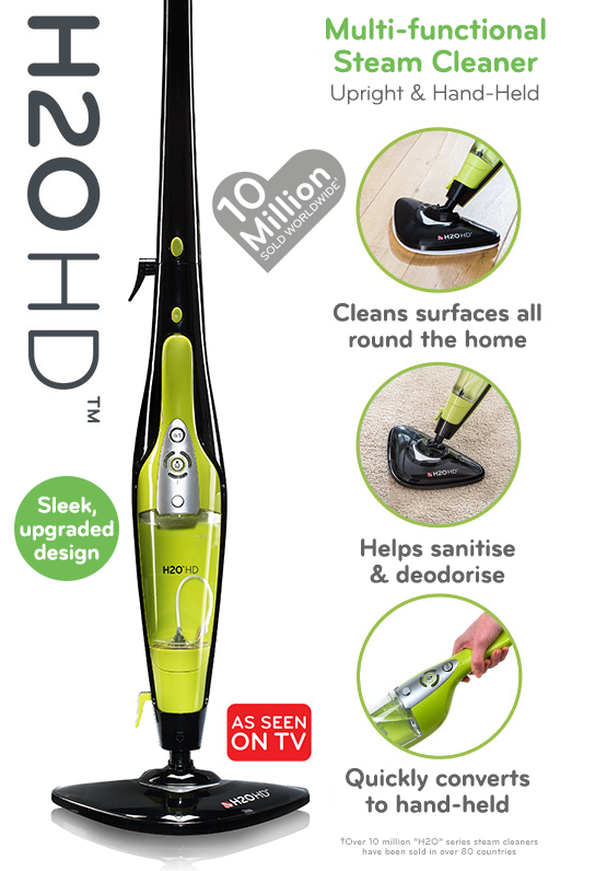 H2o hd advanced steam cleaner mop 5 in 1 thane direct uk for Recensioni h2o power x