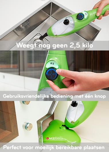 Voordelen Stoomapparaat H2O X5