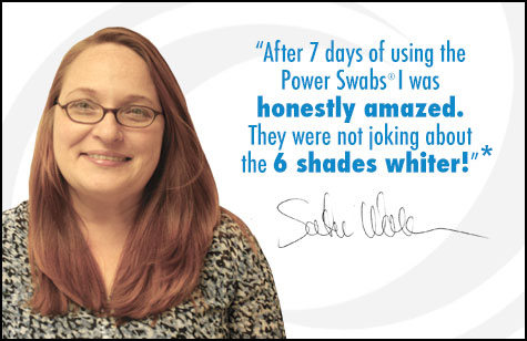 Satu was amazed by her results after using Power Swabs