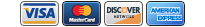 Use Visa, MasterCard, Discover or American Express cards