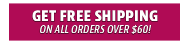 Get free shipping on all orders over $60