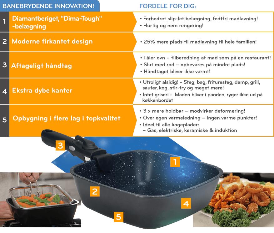Sundere madlavning og nem rengøring!