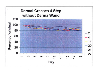 Dermal creases 4 step without dermawand